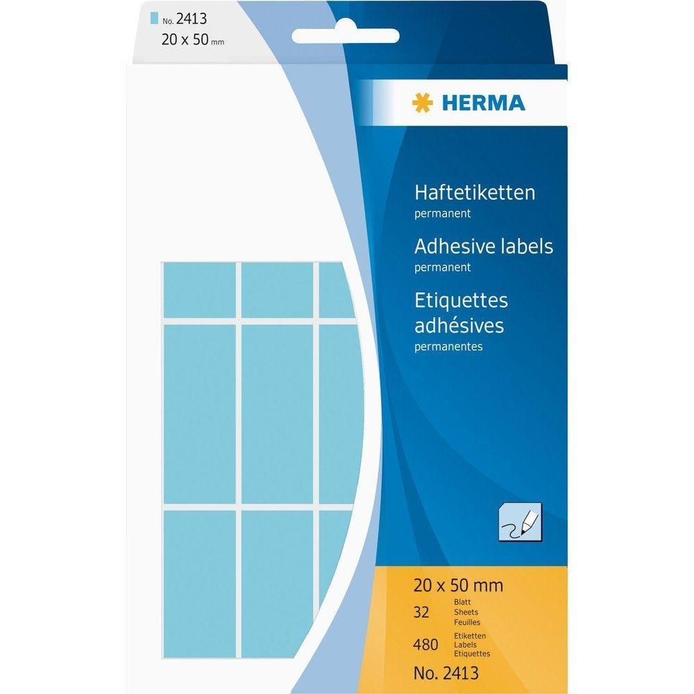 Étiquettes multi-usage, 20 x 50 mm, bleu Pack de 480