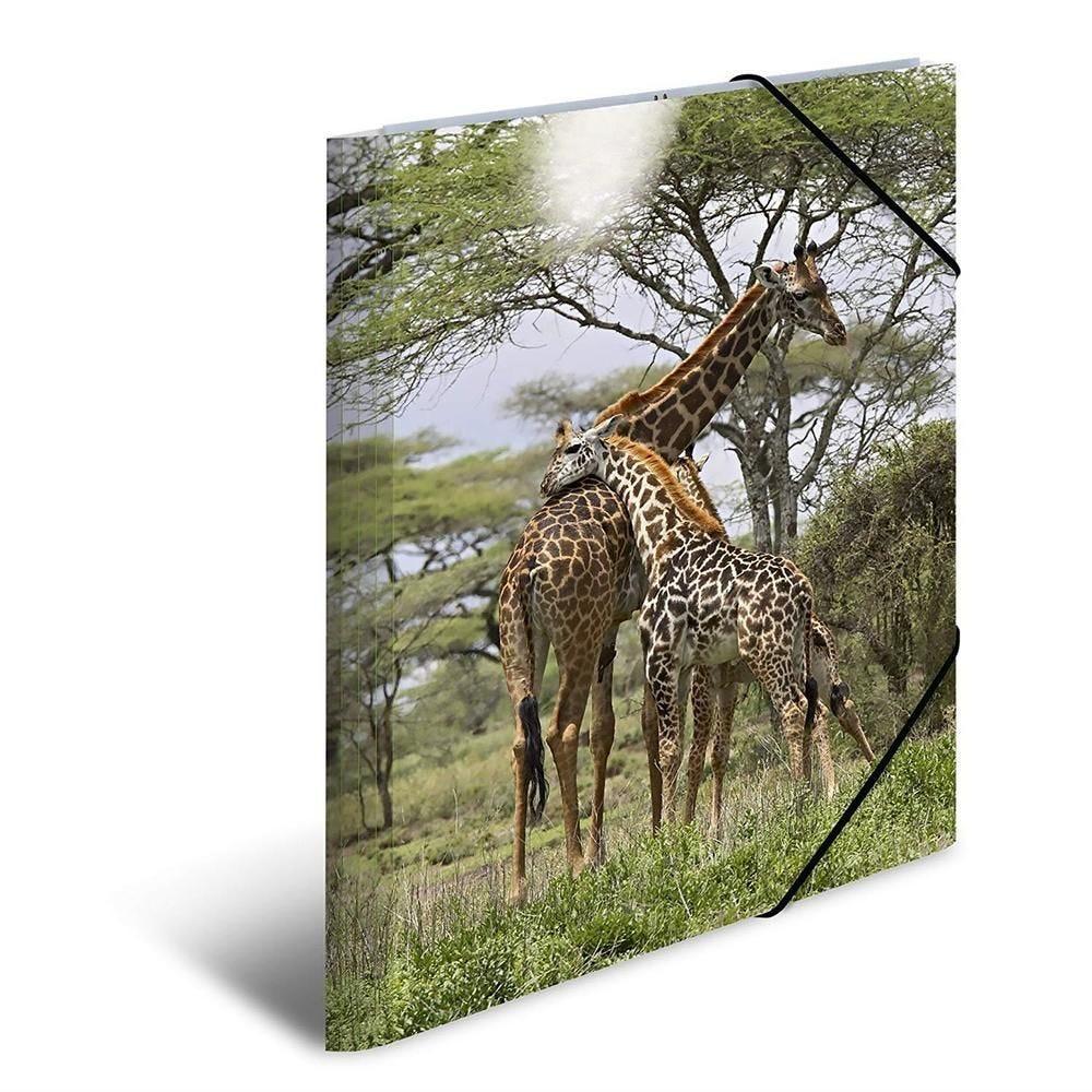 Chemise à élastiques PP Glossy A3 Motif Girafe