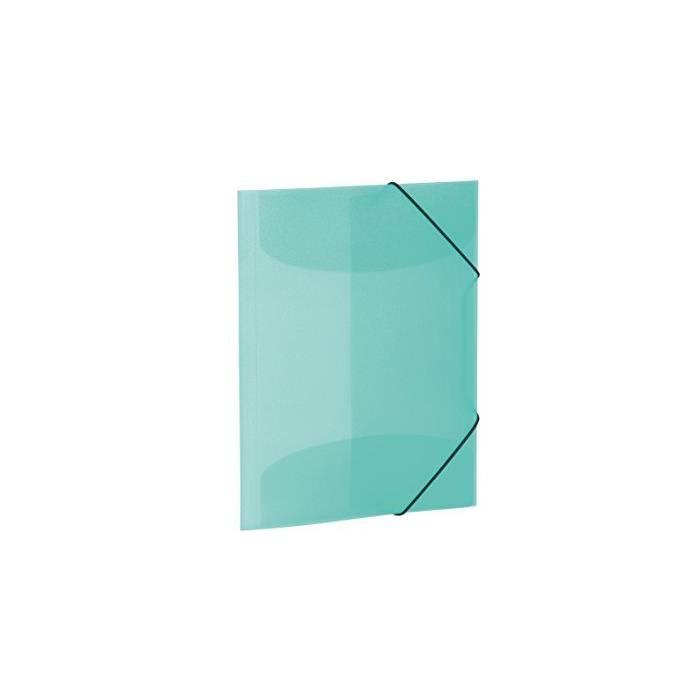 Chemise à élastiques, PP, A3, turquoise translucide