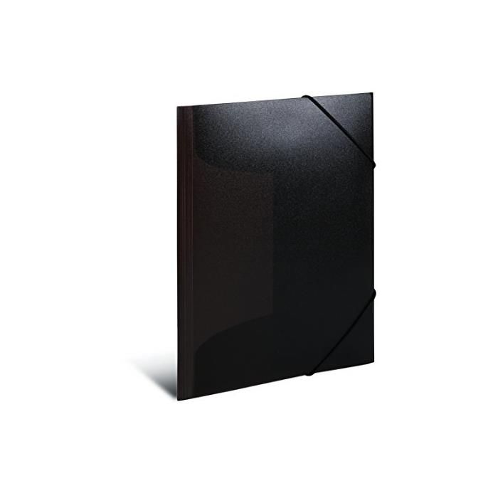 Chemise à élastiques, PP, A3, noir translucide
