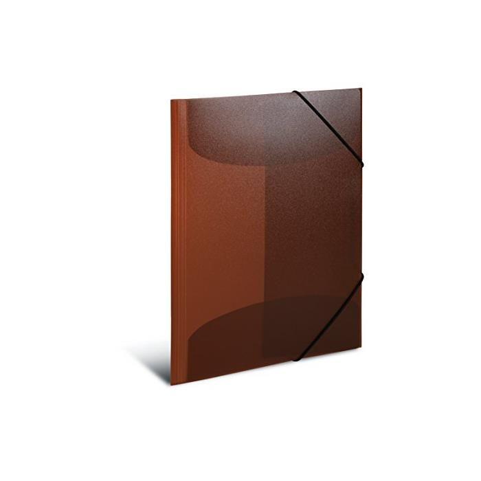 Chemise à élastiques PP A3 marron translucide