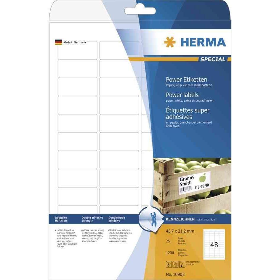 Étiquettes SuperPrint Power, 35,6 x 16,9 mm, blanc, autocollantes