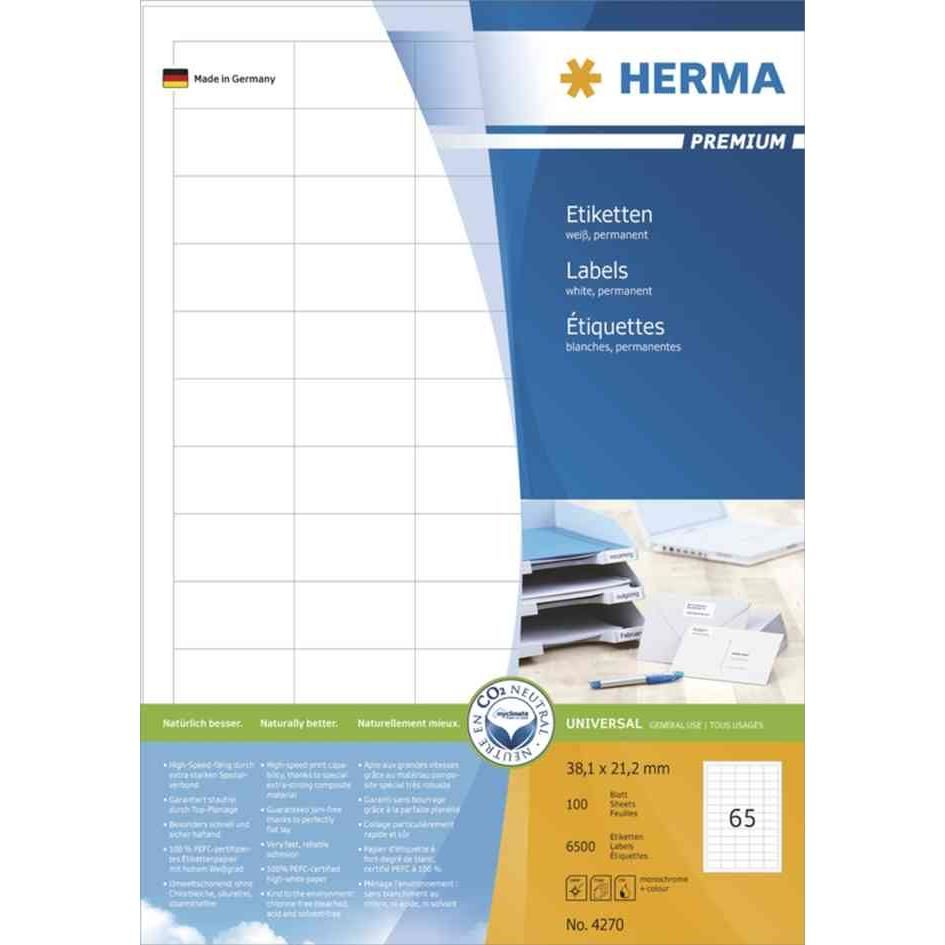 Étiquettes universelles PREMIUM, 99,57 mm, blanc