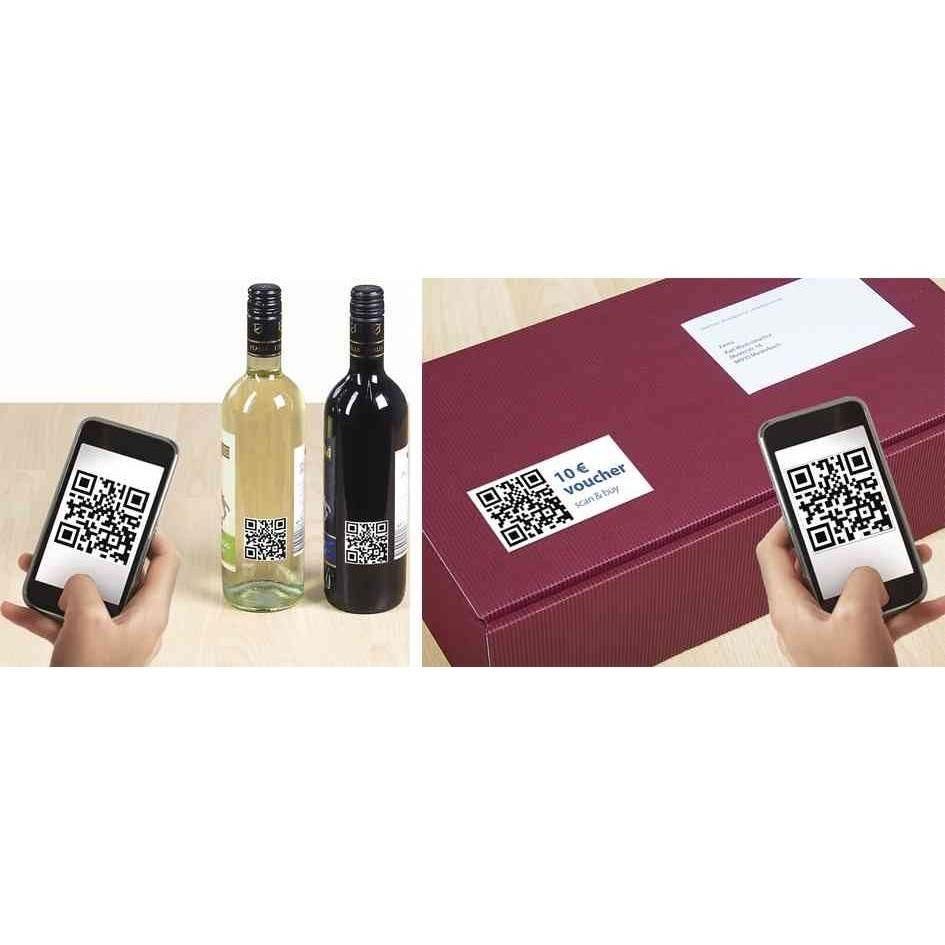 Étiquettes code QR, 80 x 40 mm, rectangulaire