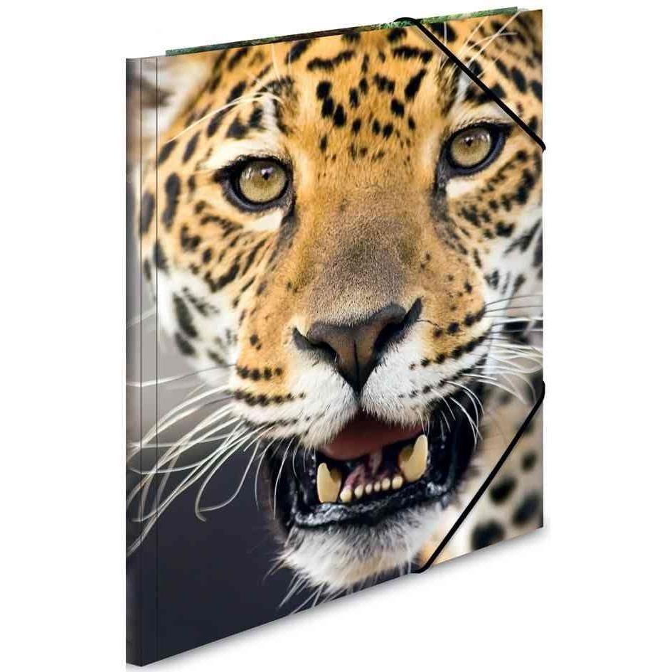 Chemise à élastique PP Format A3 'léopard'