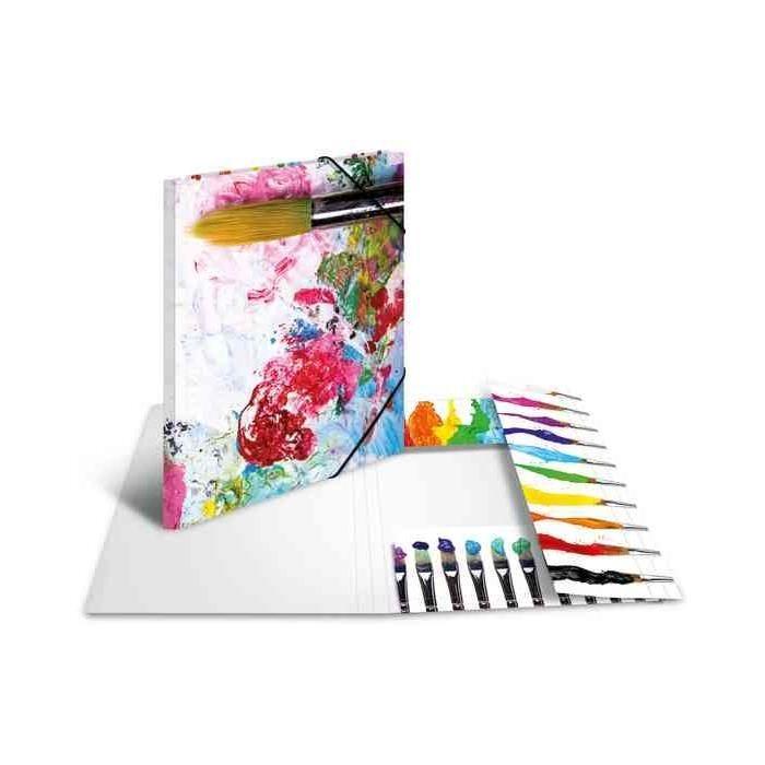 Chemise à élastiques 'couleurs', en carton, A3