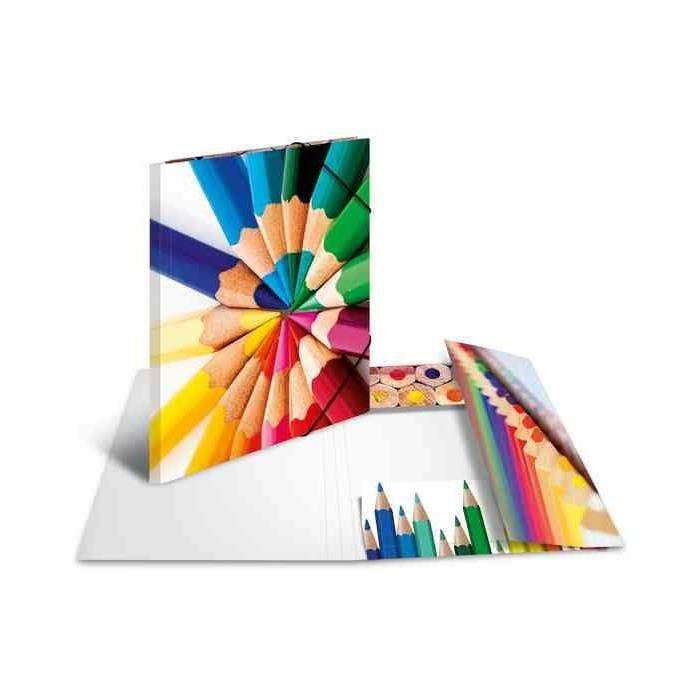Chemise à élastiques 'crayons', en carton, A3