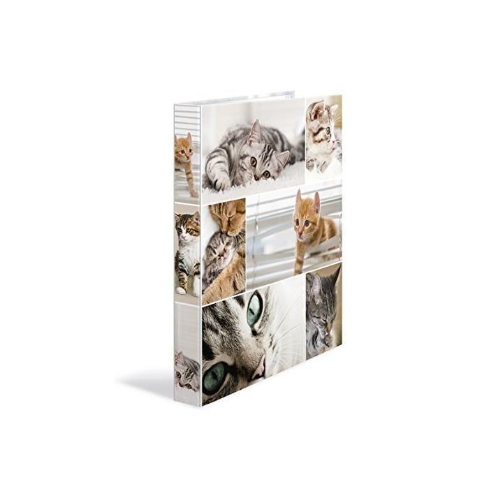 Classeur 2 Anneaux A4 Dos de 35 mm 'Animals' - chats