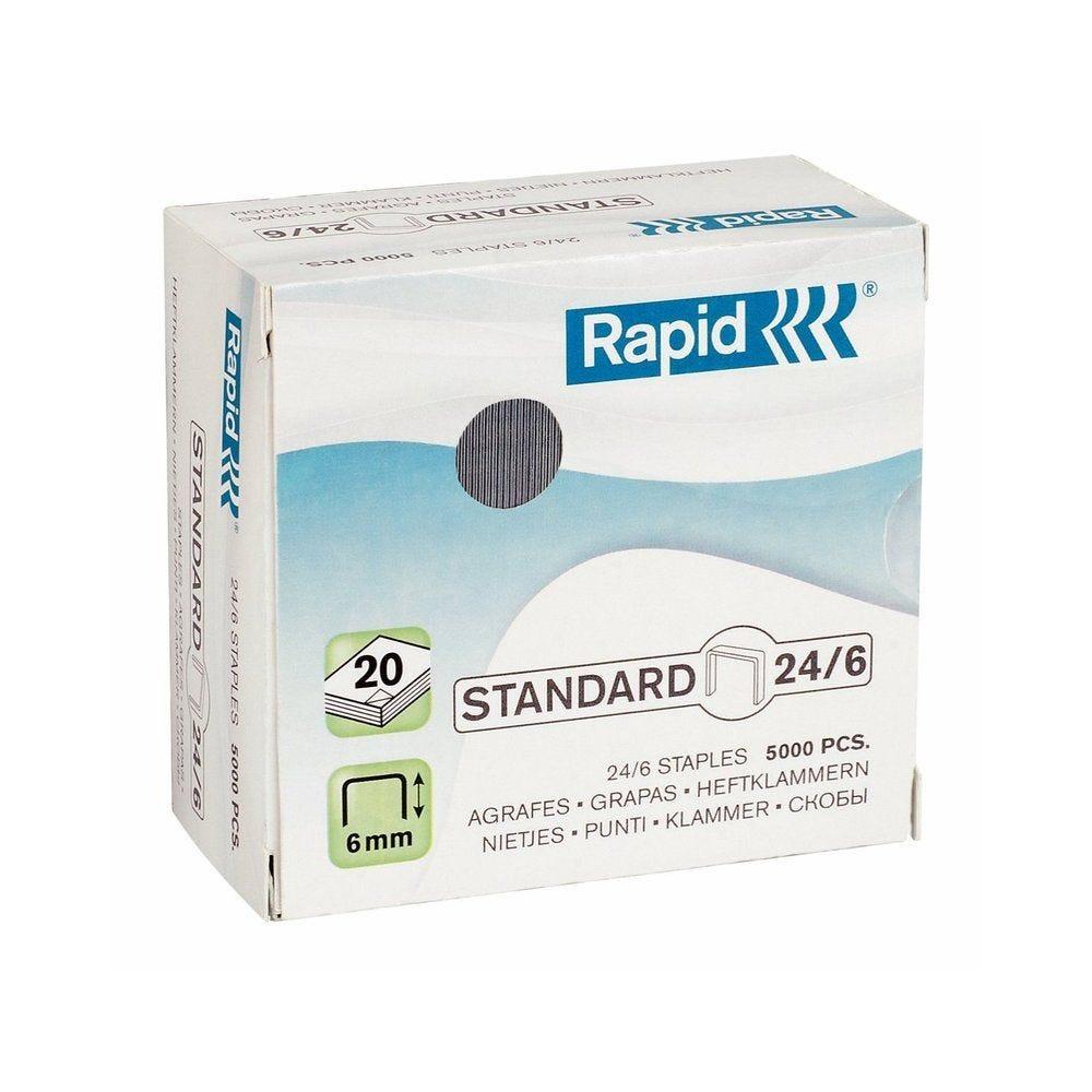 Agrafes standard 24/6 galvanisé en boite de 5000