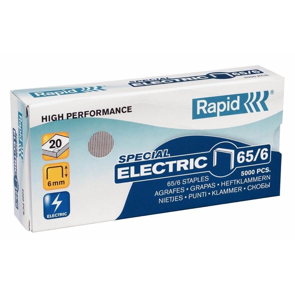 Agrafes Electric Super Strong 65/6 galvanisé en boite de 5000 (photo)