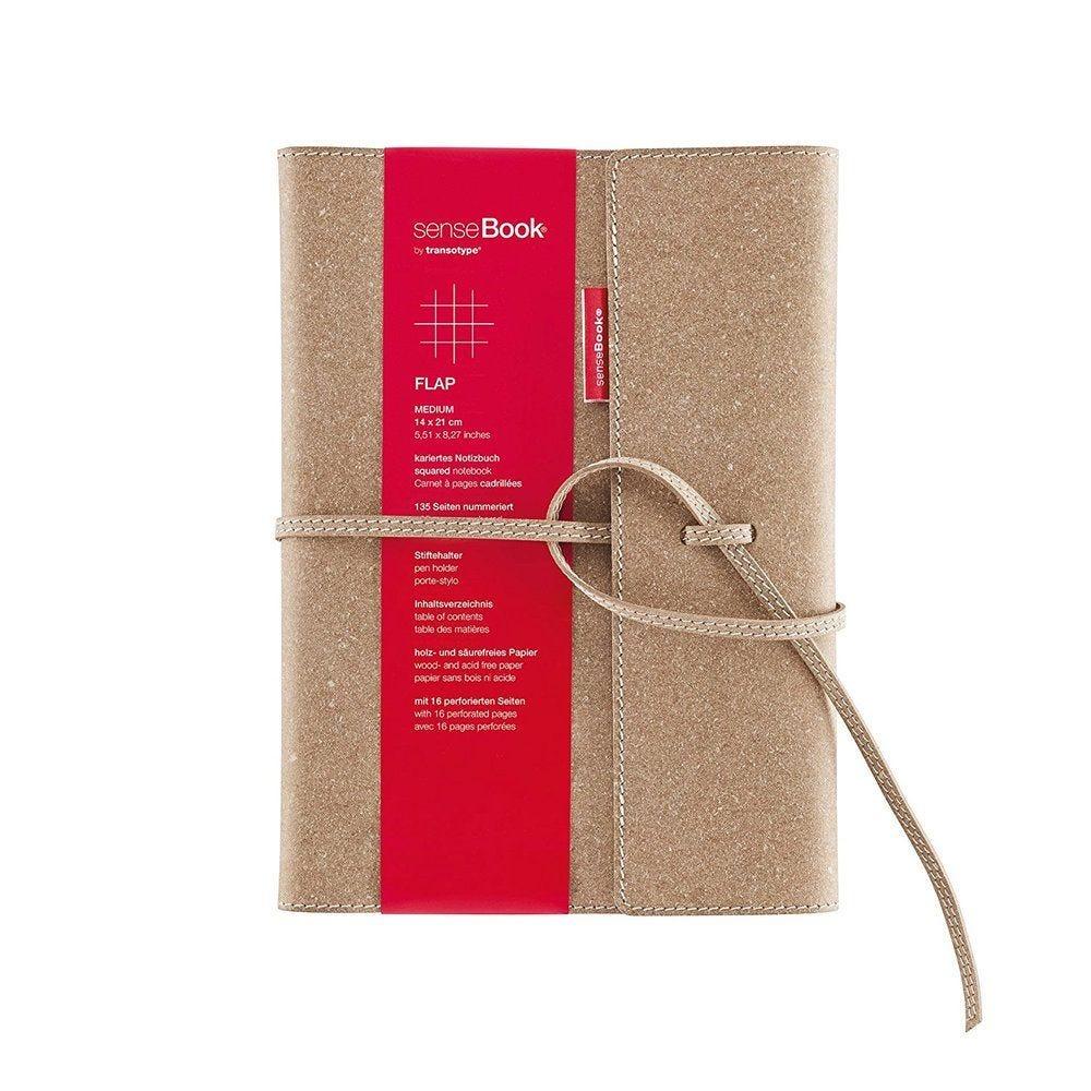 Carnet de notes 'senseBook FLAP' Medium 14x21 cm 135 Pages Quadrillée