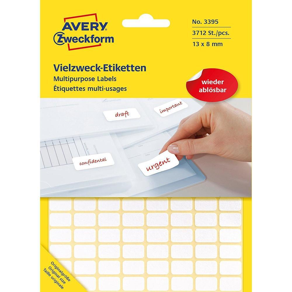 Etui 3712 Étiquettes multi-usages 13 x 8 mm Blanc