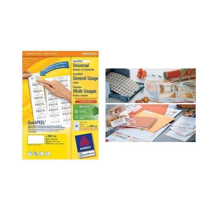 Étiquettes Multi-Usages, 97 x 67,7 mm, blanc