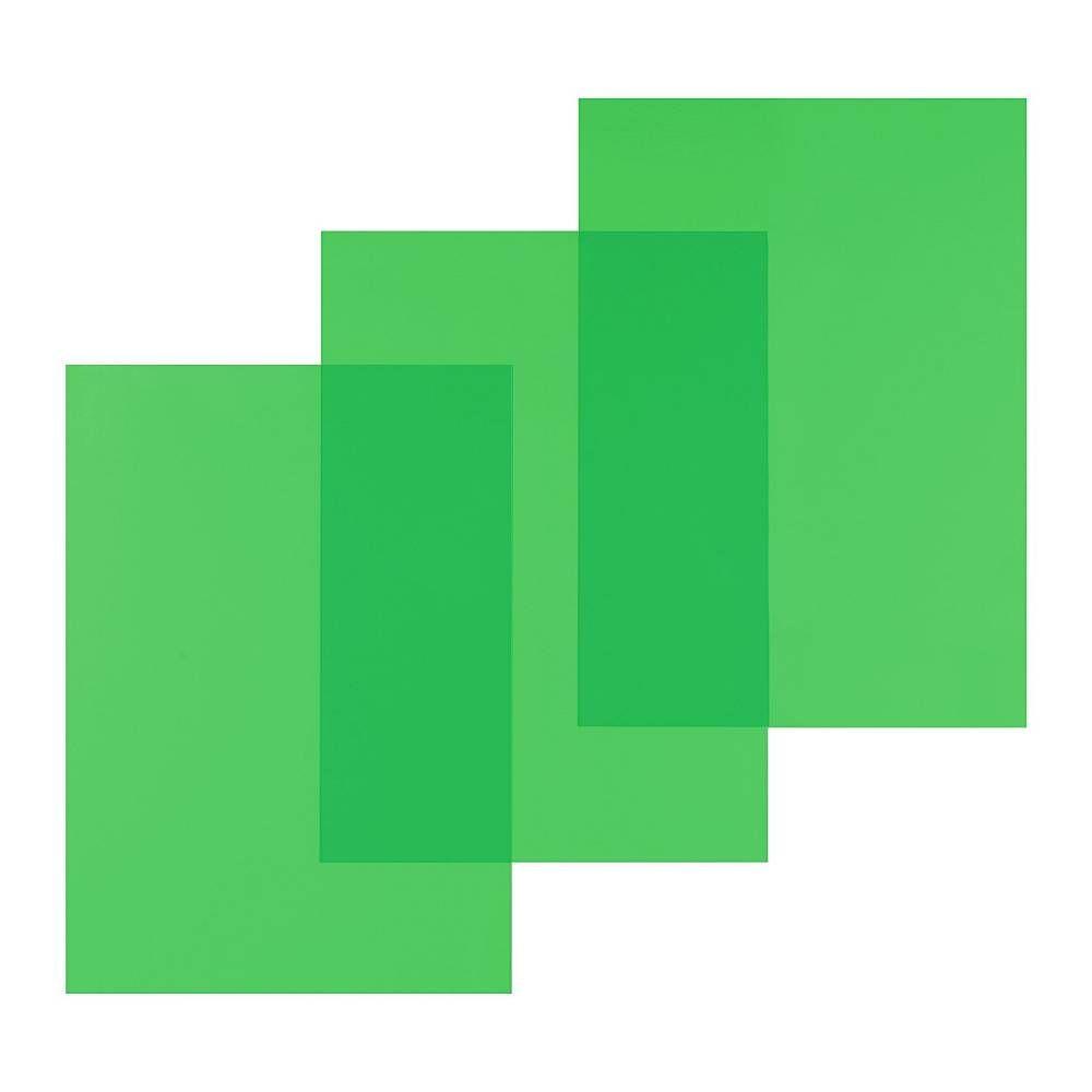 Couvertures Reliure PVC 200 microns A4 Vert Transparent - Paquet de 100