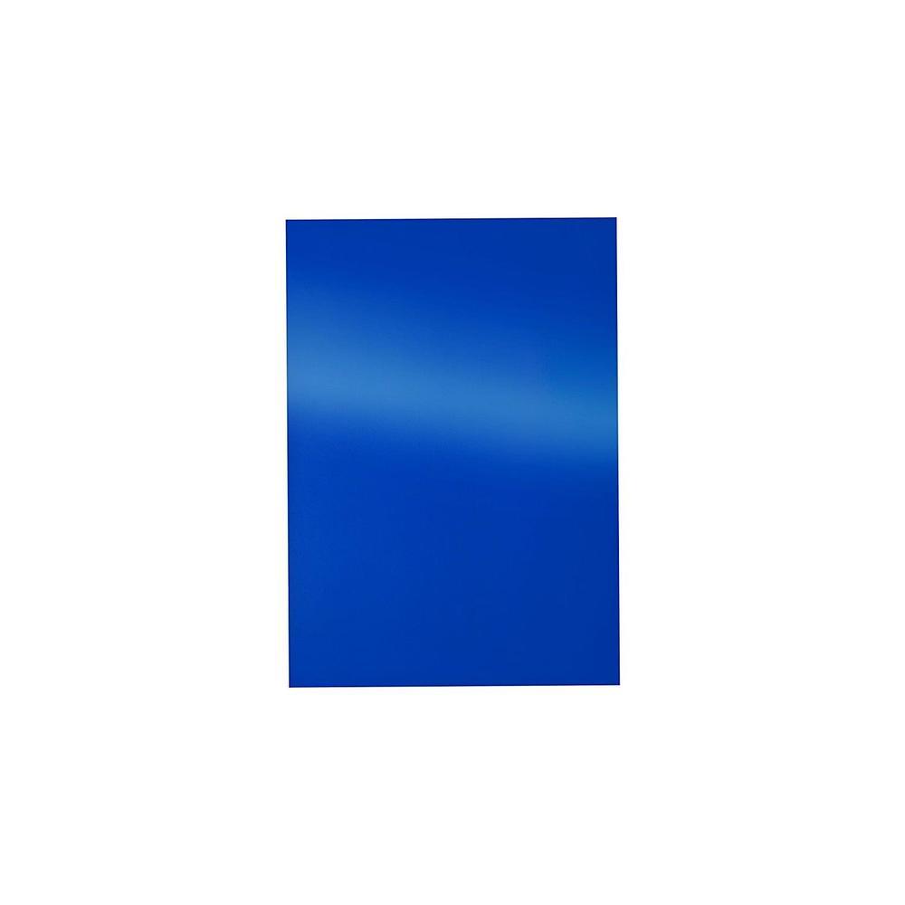 Boîte de 100 Plats de couverture Reliure Chromolux 250g Brillant A4 Bleu - boîte