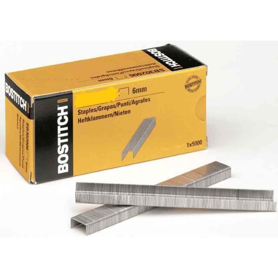 Agrafes STCR 2619 1/4 6 mm Galvanisé pour P6C-6 - Boîte de 5000
