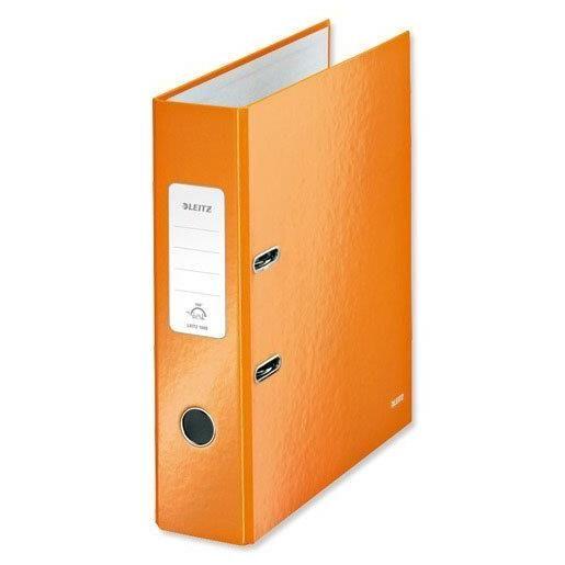 Classeur à levier 180° plastifié WOW Dos de 80 mm Orange