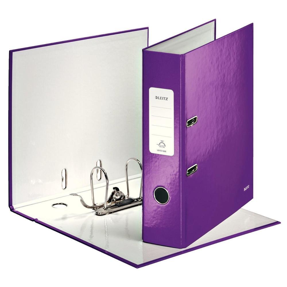 Classeur à levier 180° plastifié WOW Dos de 80 mm Violet