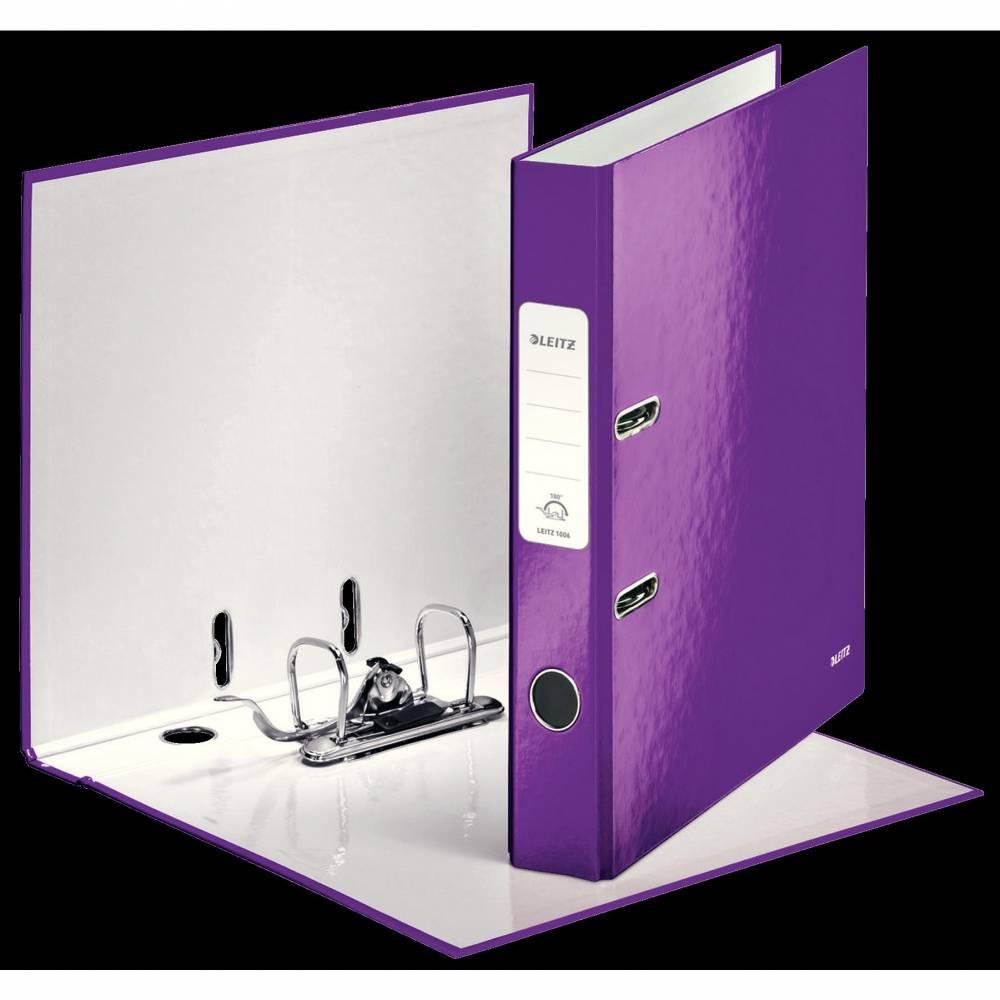 Classeur à levier 180° plastifié WOW Dos de 50 mm Violet