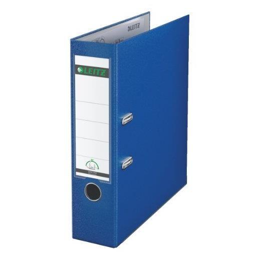Classeur à levier 180 degrés carton rembordé polypropylène dos 75mm bleu marine