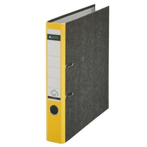 Classeur papier marbré, 180 degrés, format A4, 50 mm, jaune