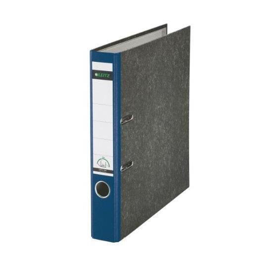 Classeur papier marbré, 180 dégrés, format A4, 50 mm, bleu
