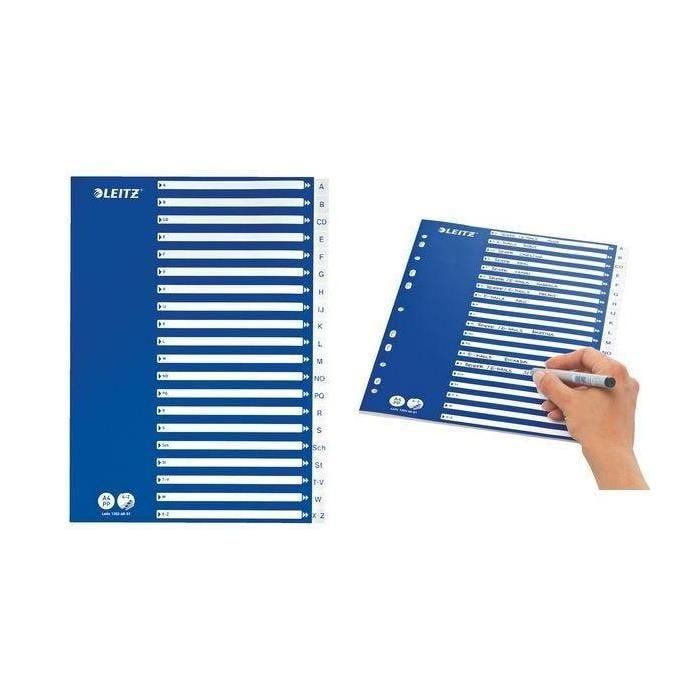 Intercalaire plastique, A-Z, A4, 21 divisions, PP