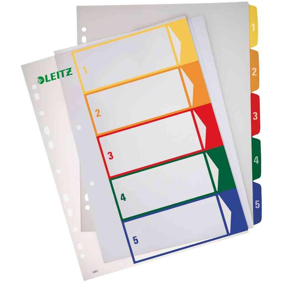 intercalaire en plastique, numérique, format A4 extra