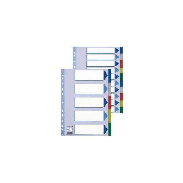 intercalaire en plastique, unis, A4, PP,10 positions