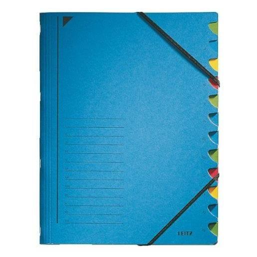 Classeur trieur, format A4, 12 compartiments Bleu