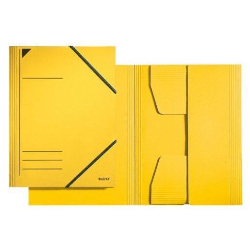 Chemise à élastique, format A4, carton 320 g/m2, jaune