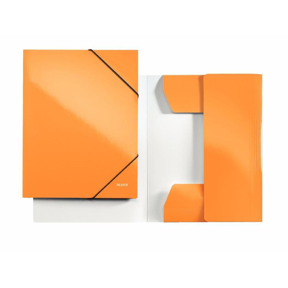 Chemise à élastique WOW, A4, carton, orange métallique
