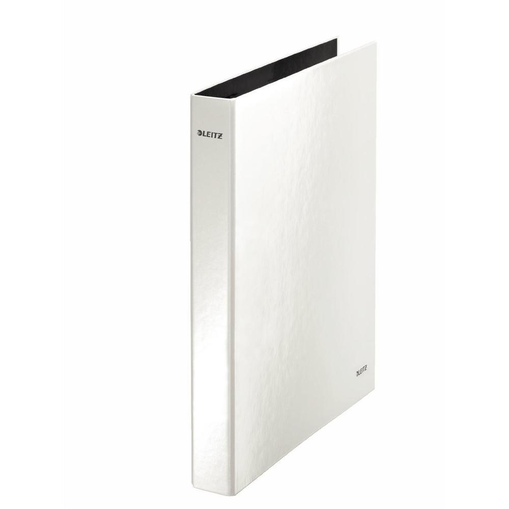 Classeur à anneaux WOW, format A4, carton solide, blanc
