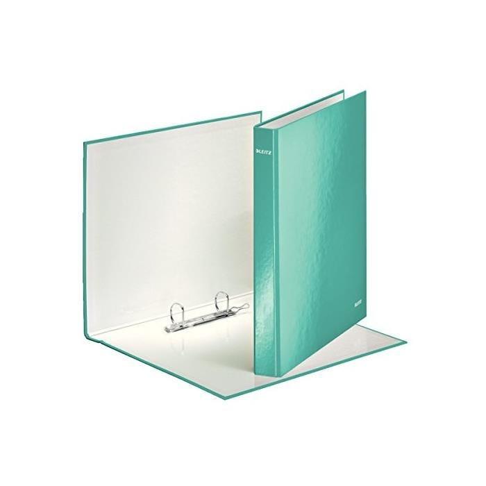 Classeur 2 anneaux 25 mm WOW A4 Carton Rigide Bleu Glacé