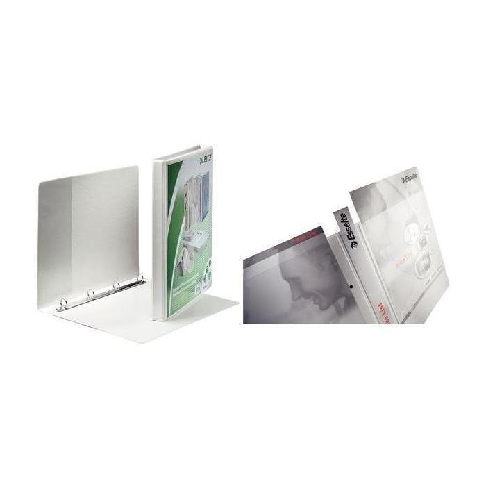 Classeur de présentation à anneaux, format A4+, blanc
