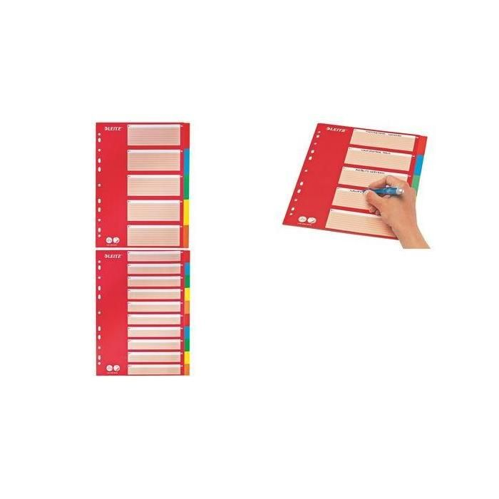 Intercalaire en carton, neutre, A4, 5 positions