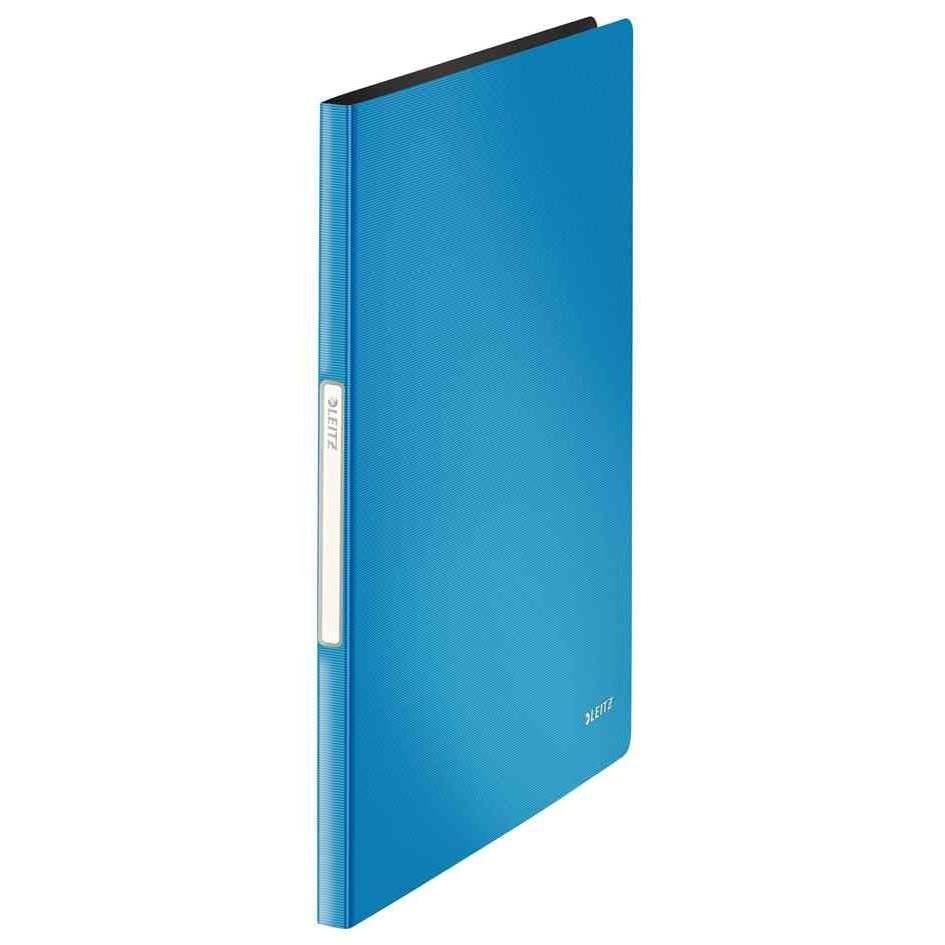 Protège-documents Solid, format A4, 20 compartiments bleu