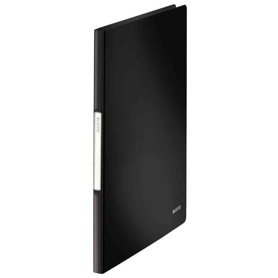 Protège-documents Solid, A4, pp, avec 20 étuis, noir