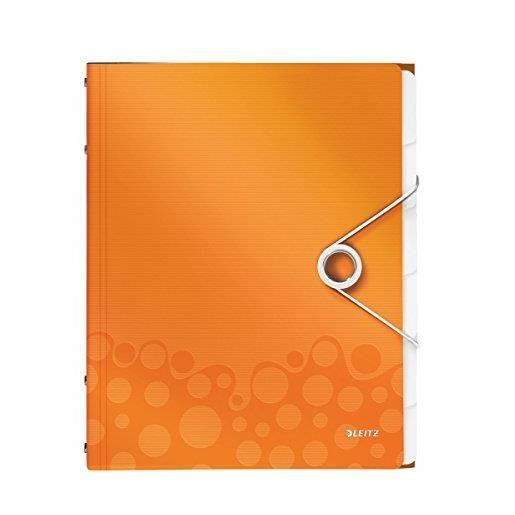 Trieur WOW Polypro A4 6 compartiments Orange métallisé