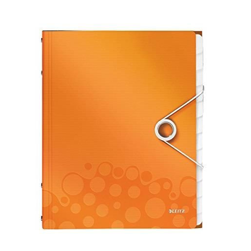 Trieur WOW Polypro A4 12 compartiments Orange métallisé