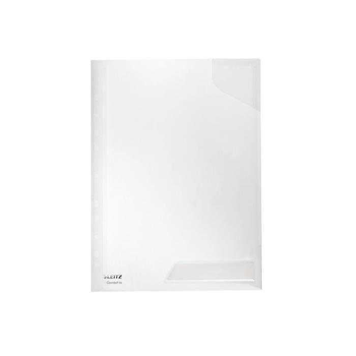 Pochettes Perforées CombiFile A4 PP Transparent - par lot de 5