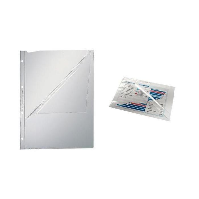 Pochettes perforées de présentation, A4, PVC, 0,08 mm