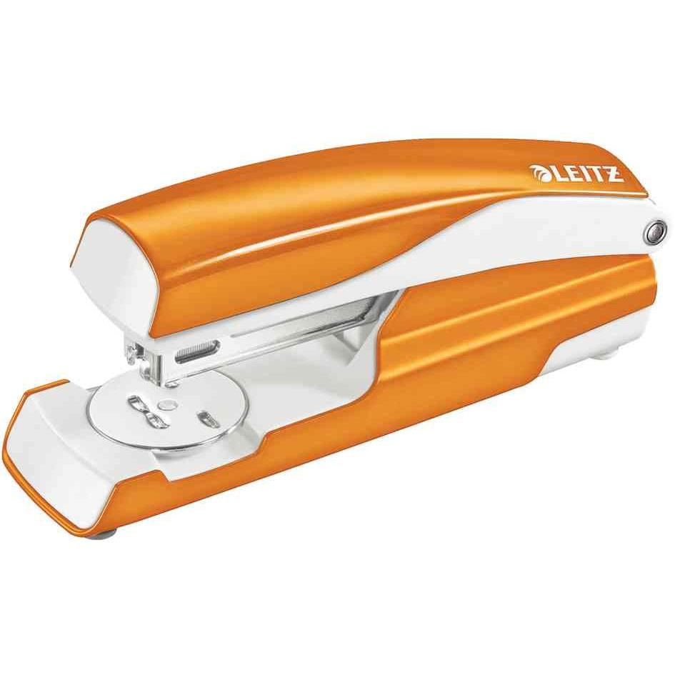 Agrafeuse métal Orange métalisé capacité 30 feuilles pour Agrafes 24/6-26/6