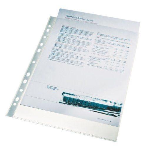 Pochettes perforées en Polypropylène lisse A4 60 µ Transparent Lot de 100