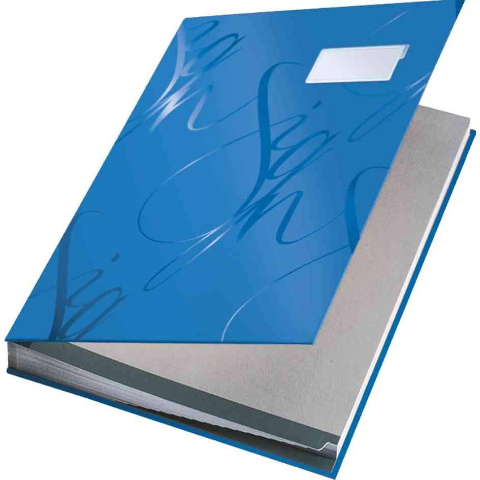 Design parapheur, 18 compartiments, bleu