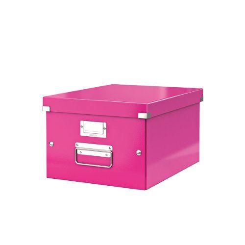 WOW Click & Store Boîte de rangement Format A4 Rose