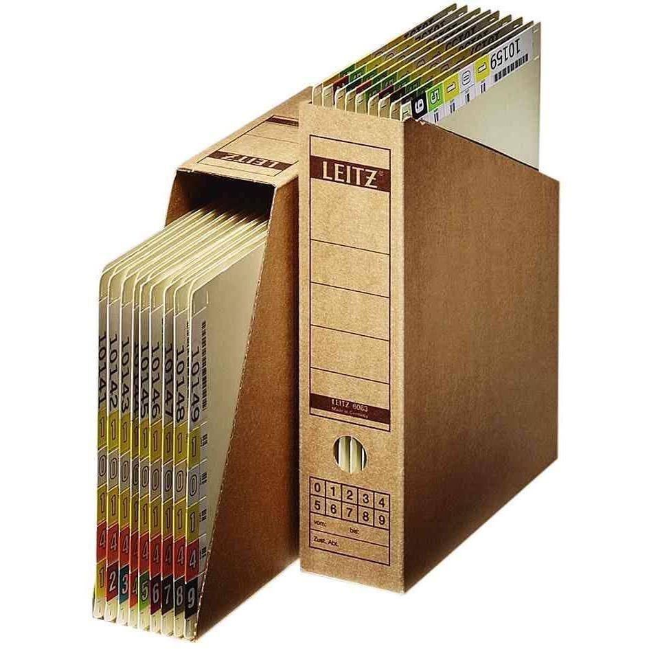 10 x porte-revues pour archivage, A4, en carton onduleé (photo)