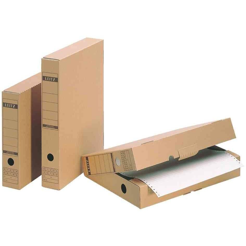 Boîtes d'archivage avec languette Brun (L)70 x (P)325 x (H)437 - par lot de 5