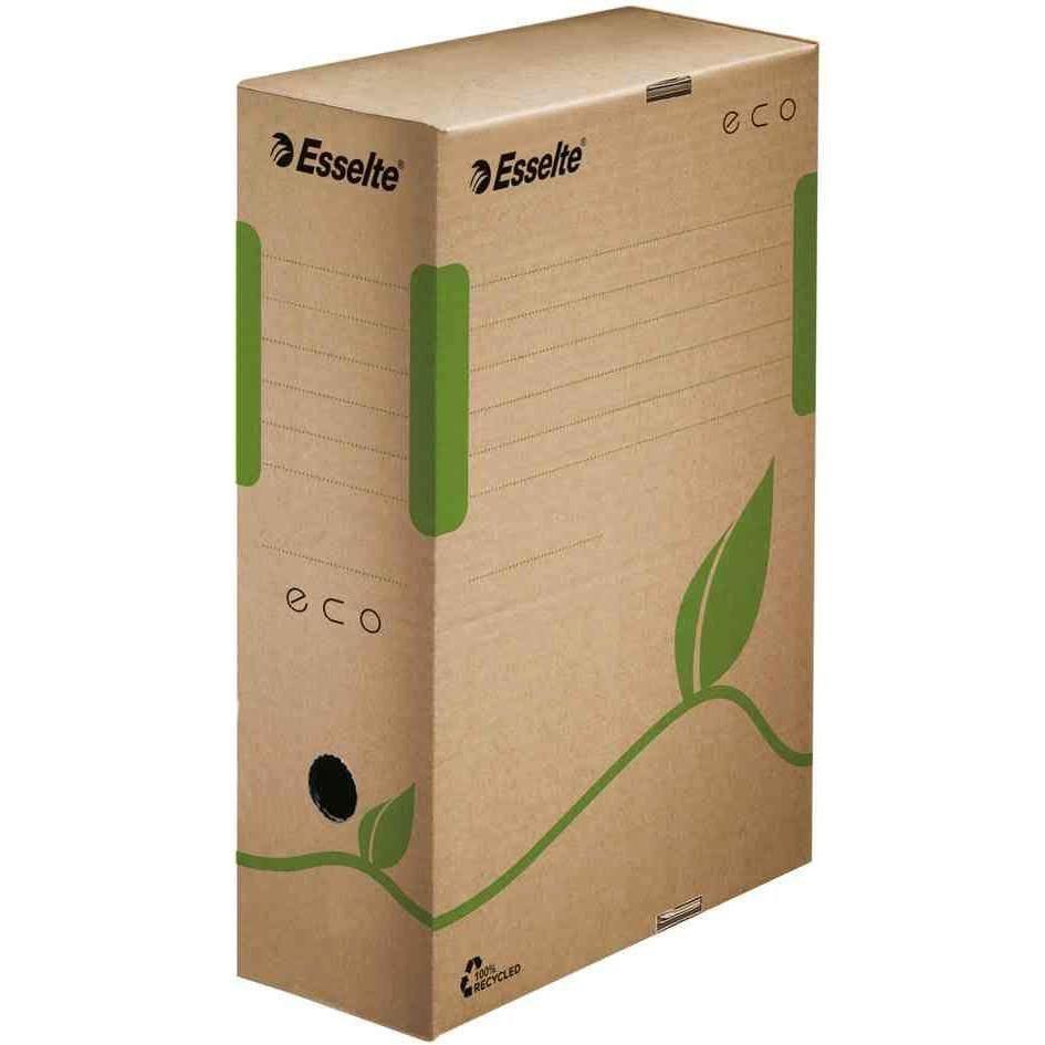 Boîte d'archives ECO, format A4 marron dos: 80 mm