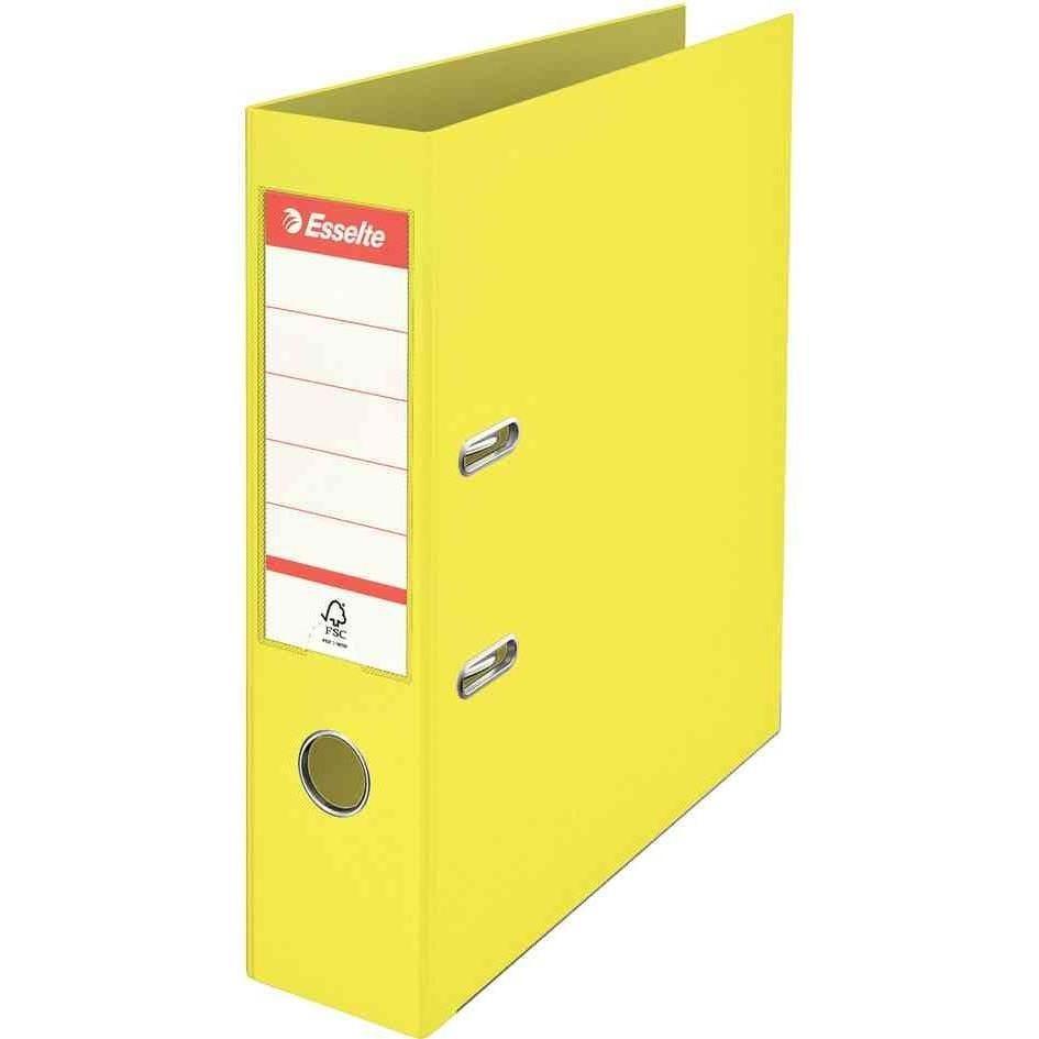 Classeur en plastique Colour'Ice, A4, 75 mm, jaune